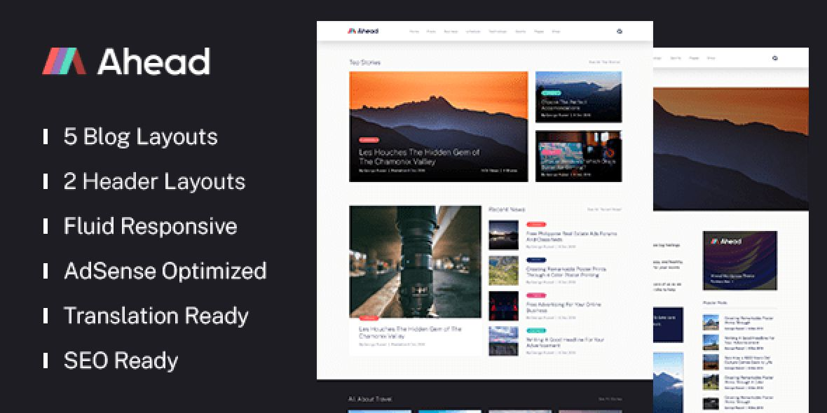 Ahead - Premium WP Theme to Push You Ahead version v1.0.3 (June 18, 2020)